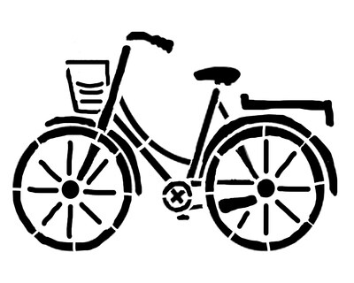Bicycle large 8x10 stencil