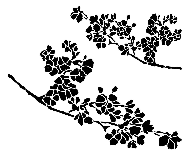 Cherry Blossom 8x10 Stencil
