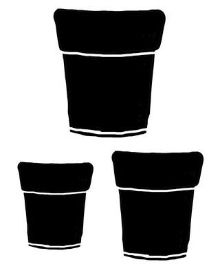 Terra Cotta Pots stencil 12x12