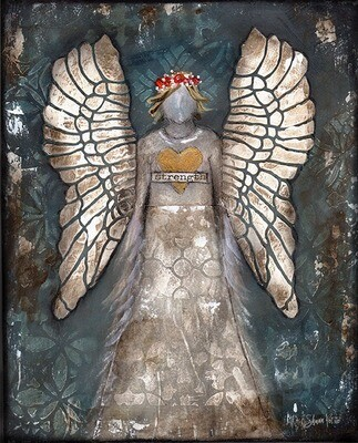 """""""Angel of strength"""" Print on Wood and Print to be Framed"""
