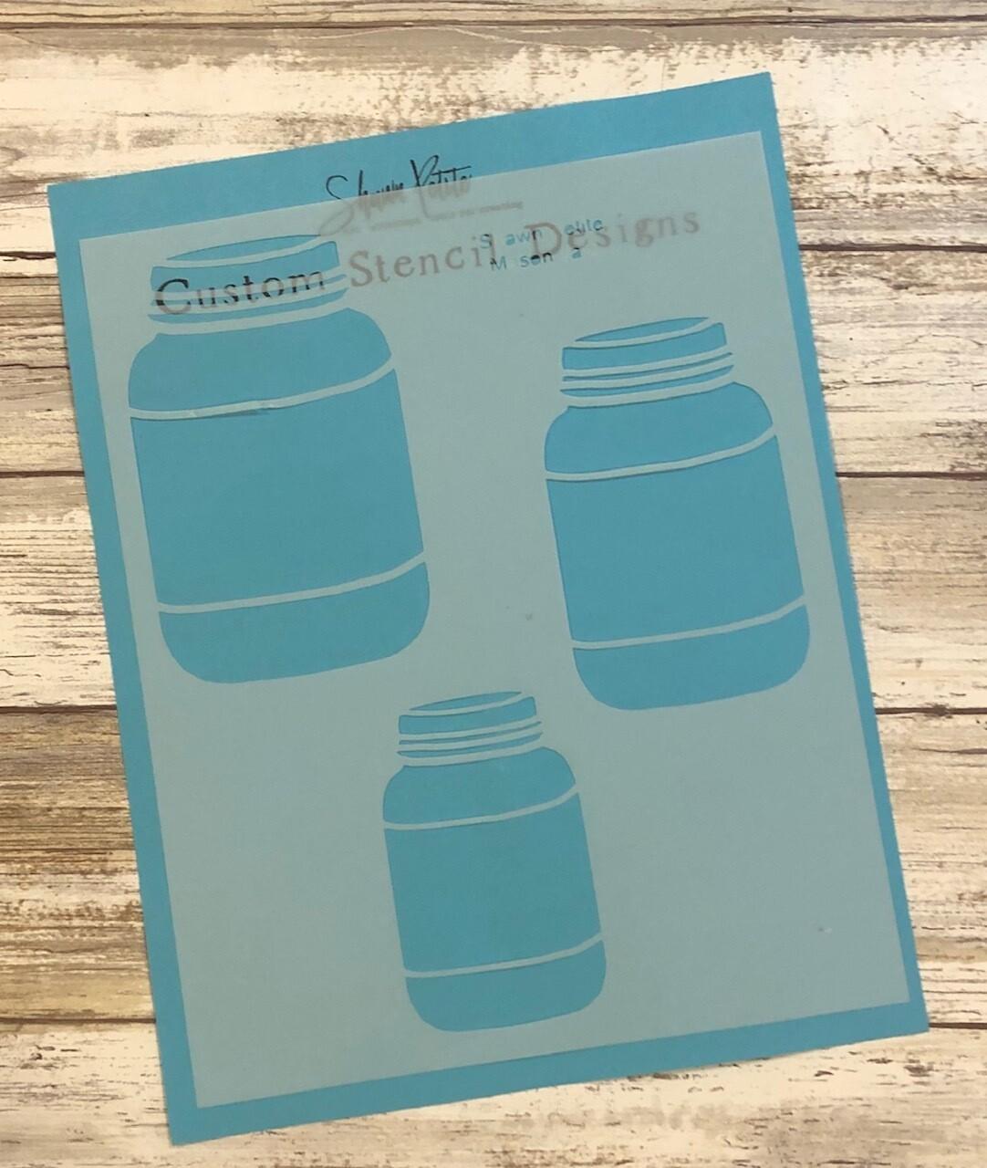 Mason Jars clearance stencil