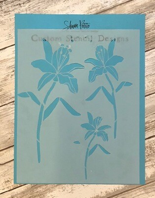 Day Lily Trio clearance stencil