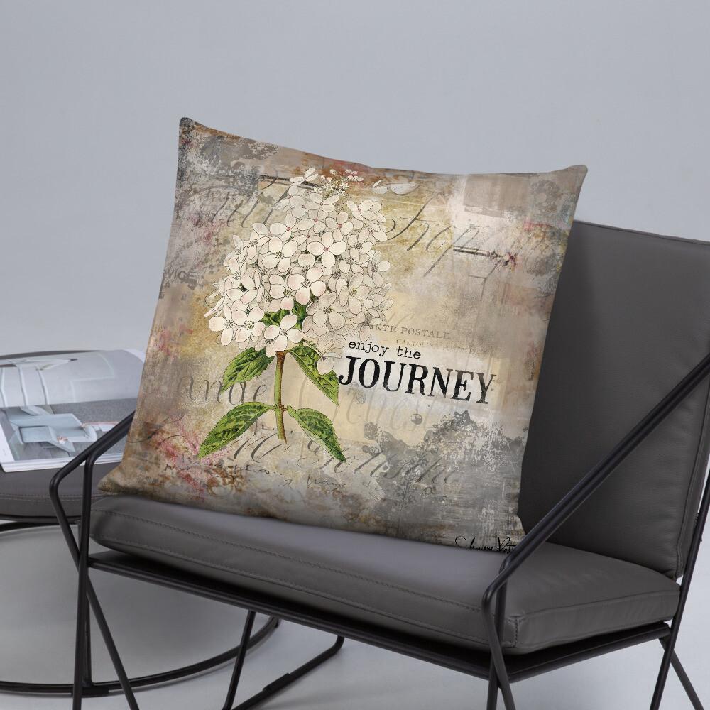 Enjoy the Journey flower Basic Pillow