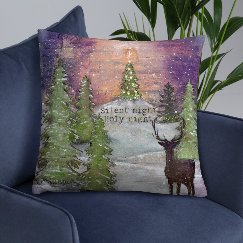 Silent Night Holy Night Basic Pillow