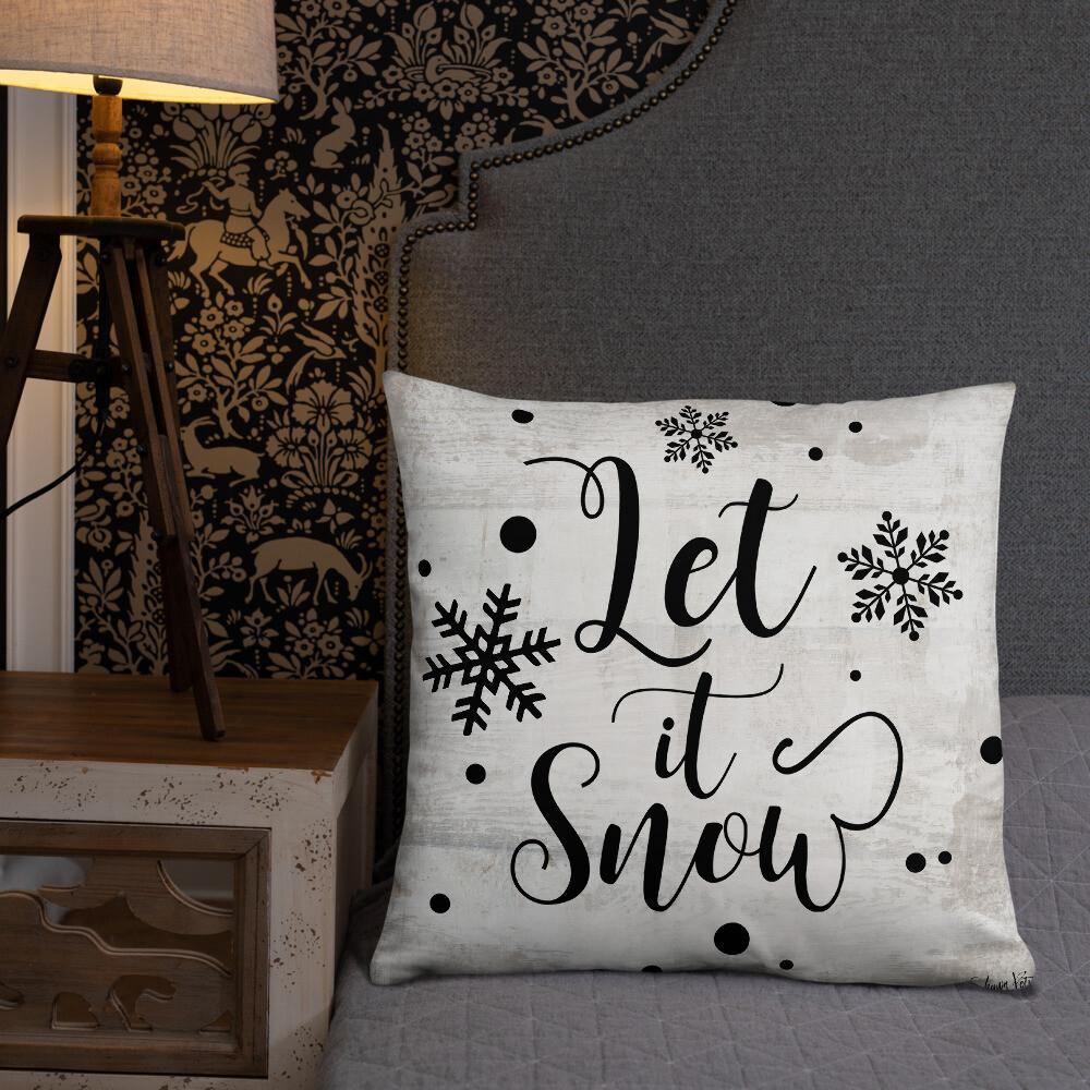 Let it Snow Basic Pillow