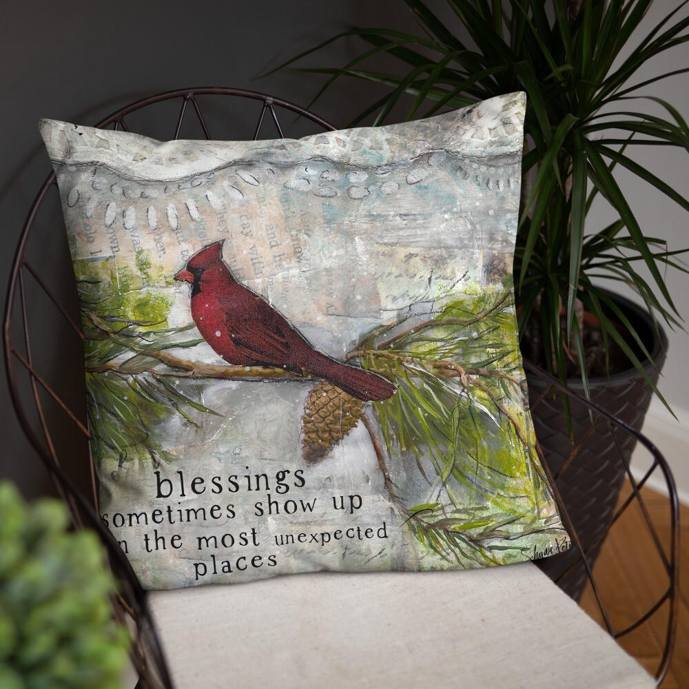 Cardinal Blessings Basic Pillow
