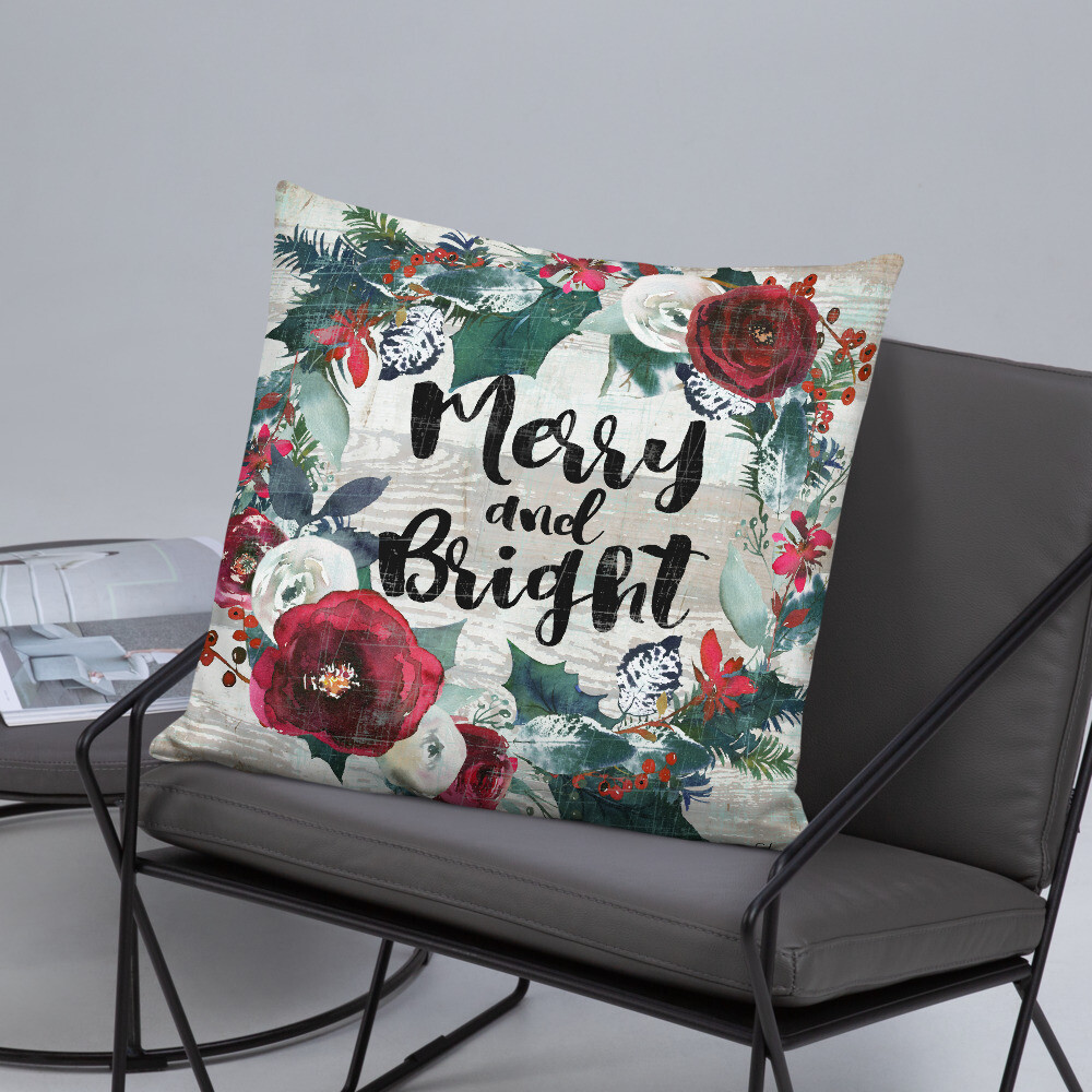 Merry and Bright Basic Pillow