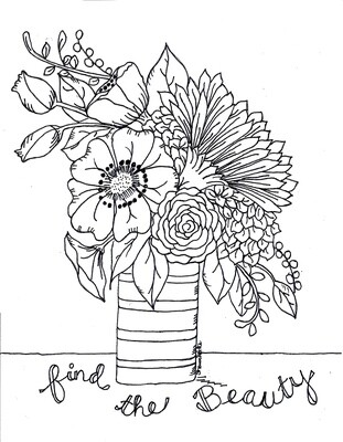 Coloring pak. Adult coloring pages instant download 6 pages