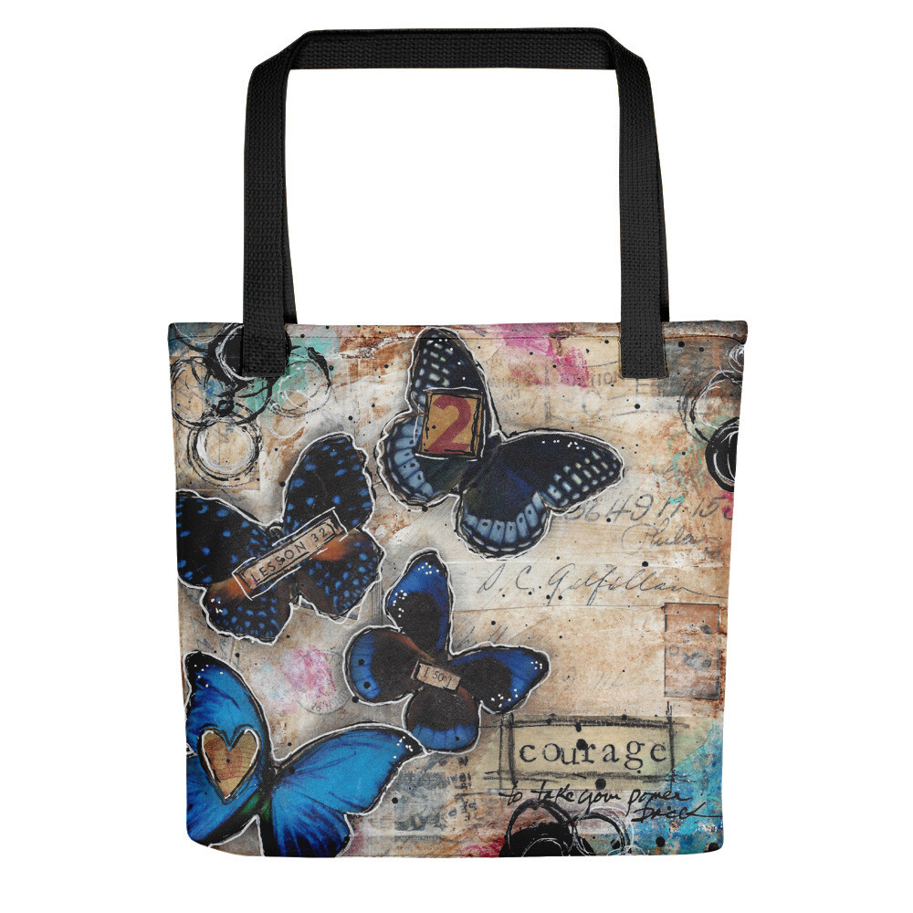 Courage butterfly Tote bag