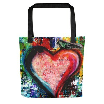 Hope heart Tote bag