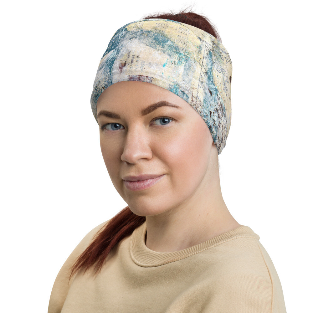 Pastel Blue Head Wrap/Neck Gaiter