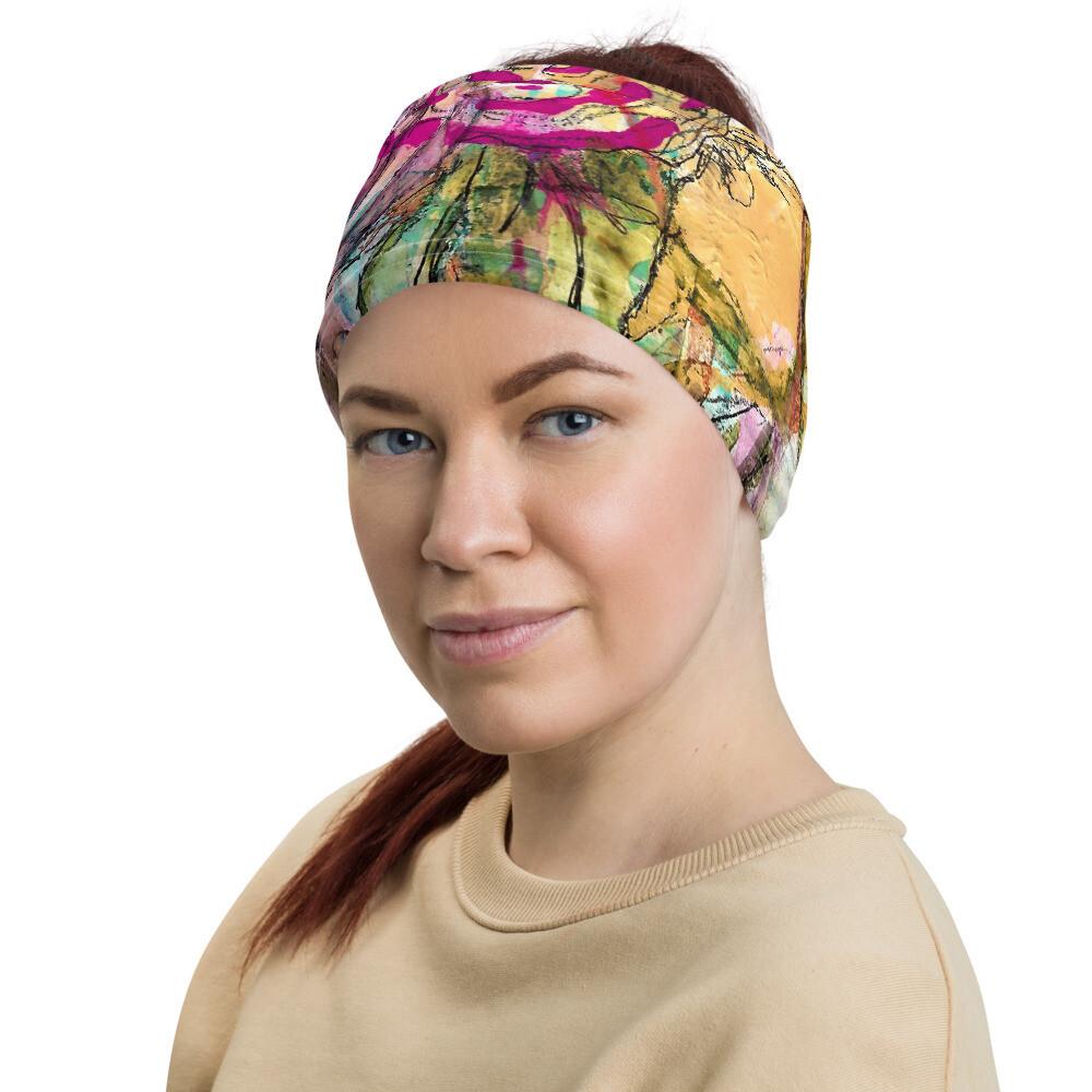 Bright Flowers Head Wrap/Neck Gaiter