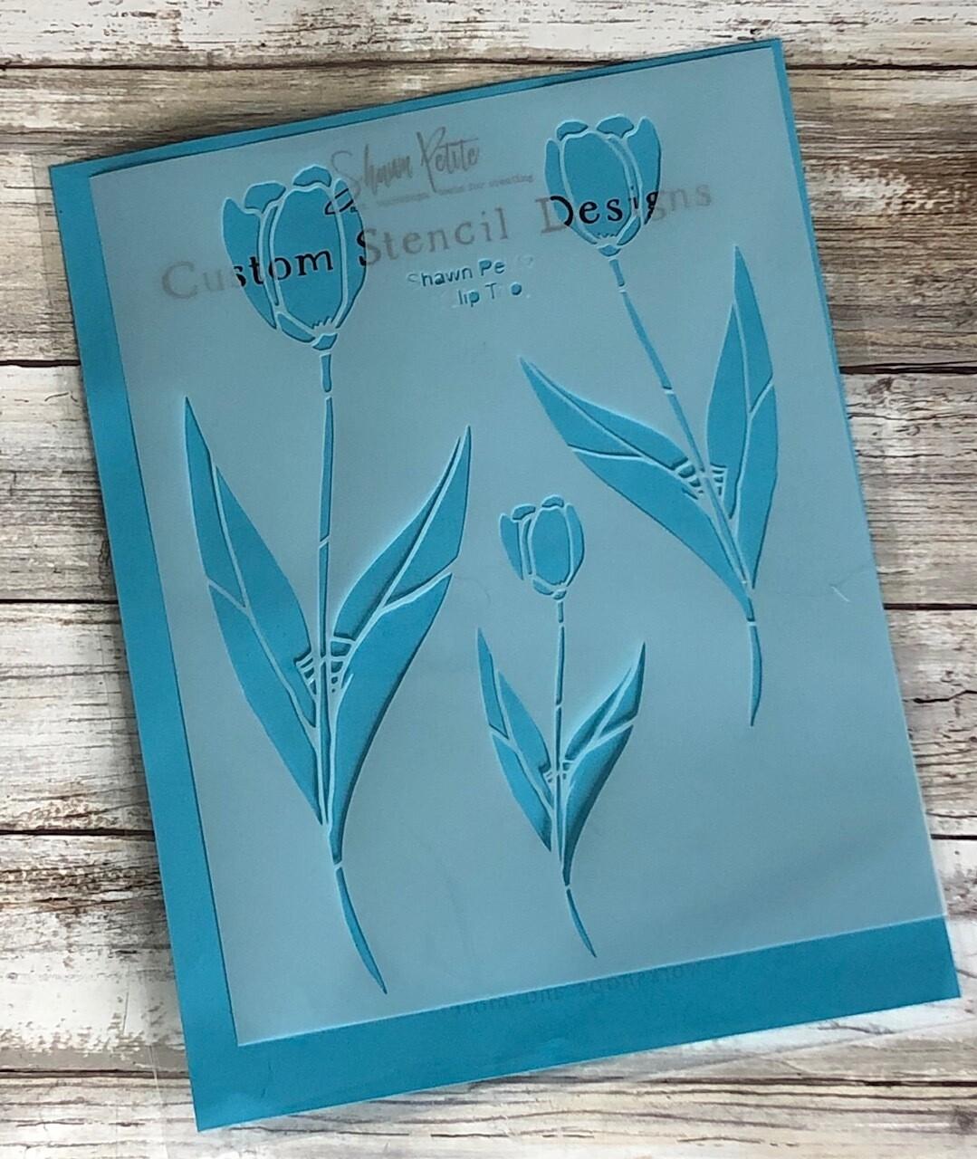 Tulip Trio stencil clearance