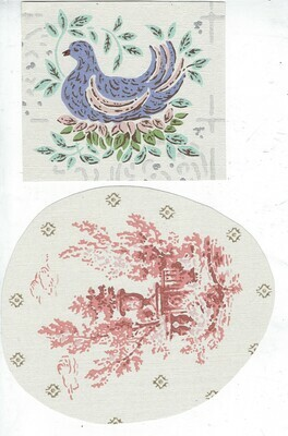 Vintage Wallpaper 3 collage pak 12 pages **PRINTED VERSION**