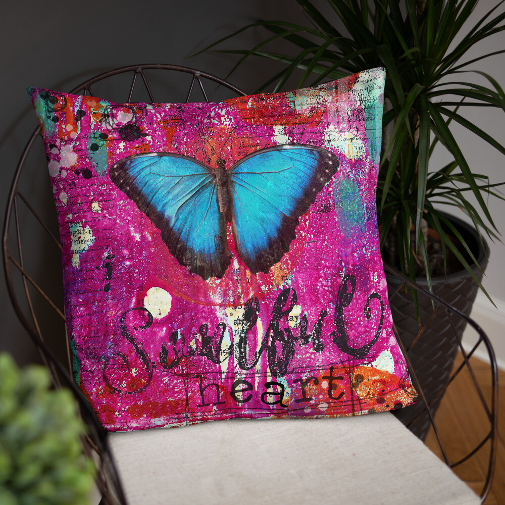 Soulful Heart Basic Pillow