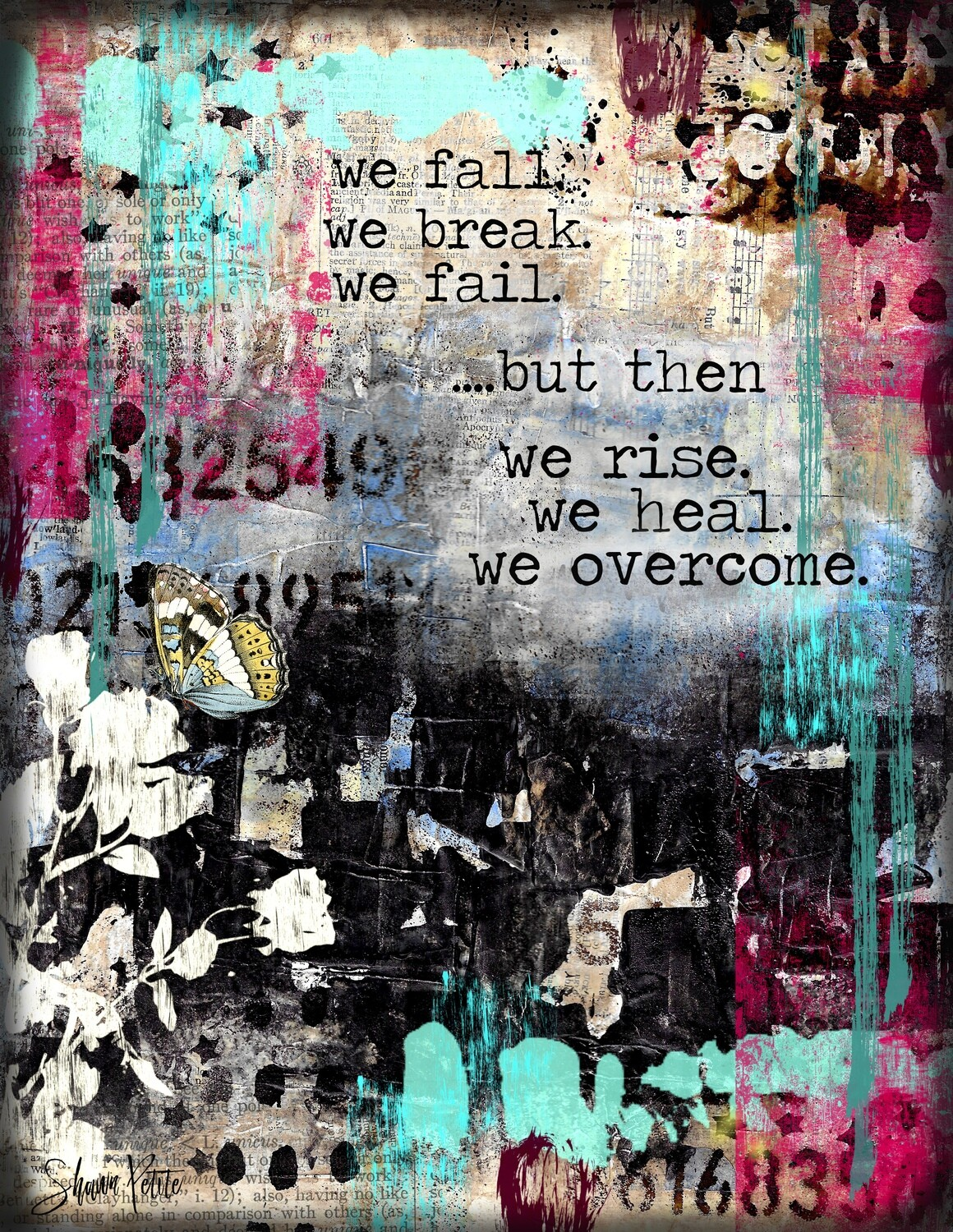 """""""We Overcome"""" Print on Wood and Print to be Framed"""