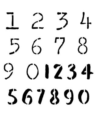Bold Numbers 12x16 stencil