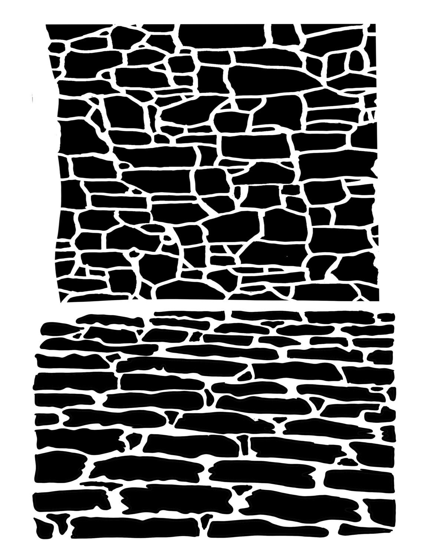 Cobblestone 8x10 stencil