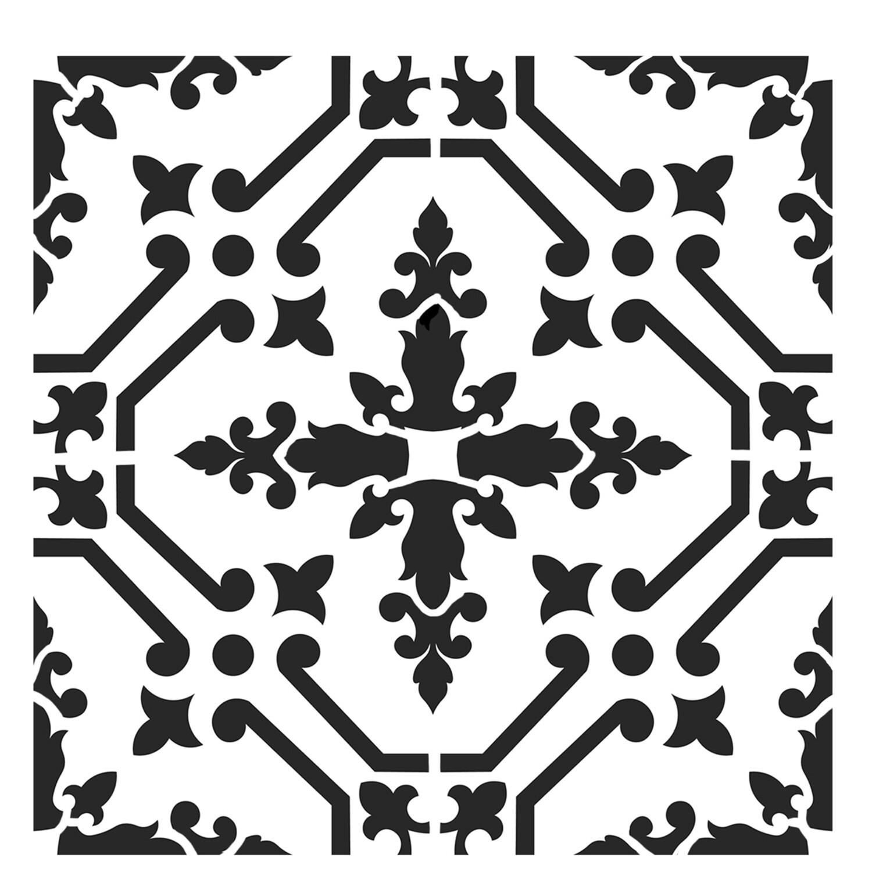 Moroccan Tile 3 stencil 6x6