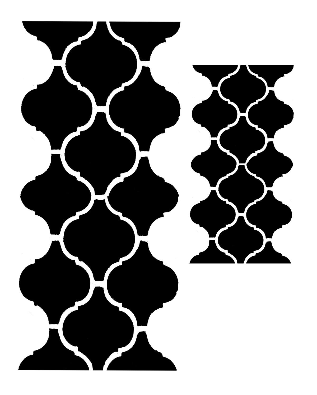 Moroccan Tile 4 stencil 12x16