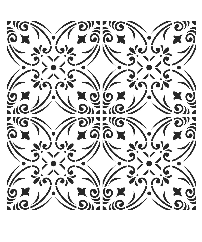 Moroccan Tile 1 stencil 12x16