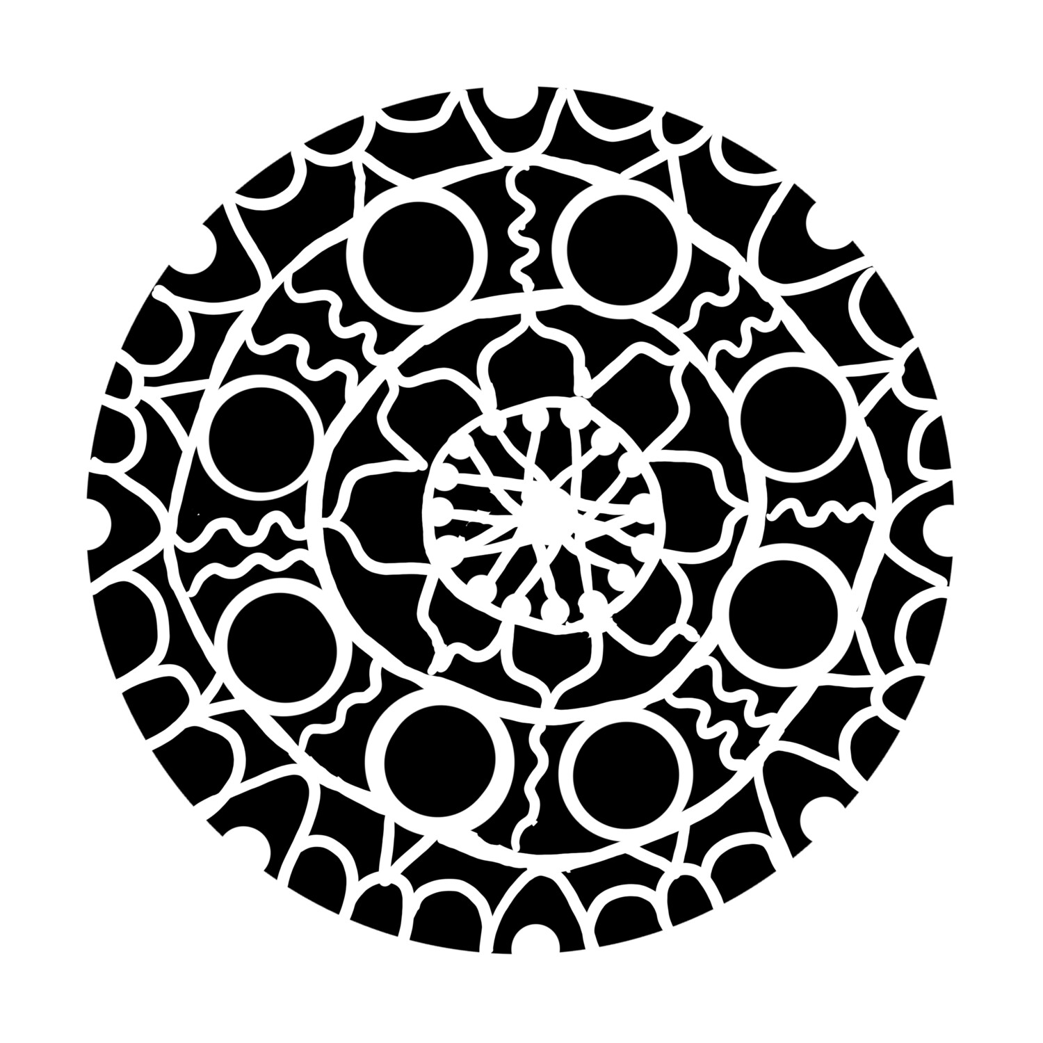 Hand Drawn Mandala stencil/mask 8x10