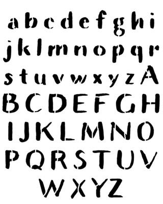 Rustic Font large stencil 8x10