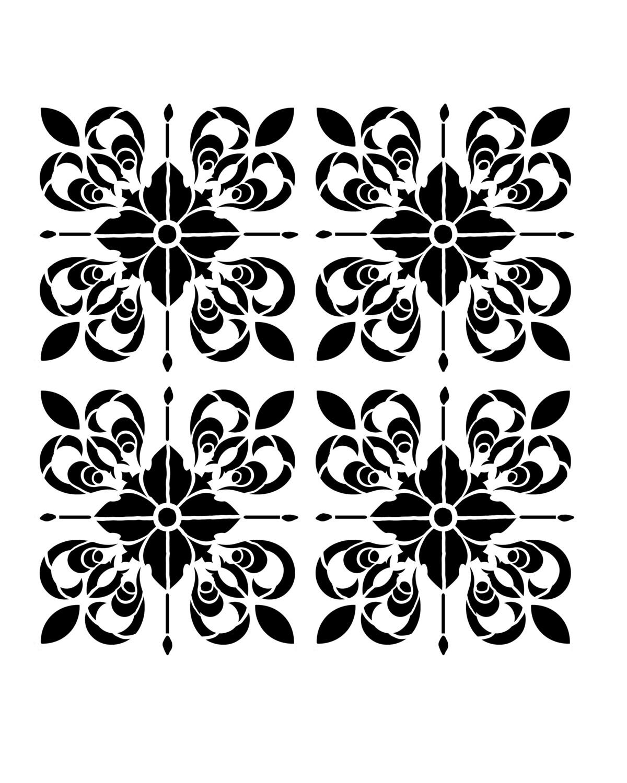 Moroccan Tile 2 stencil 8x10