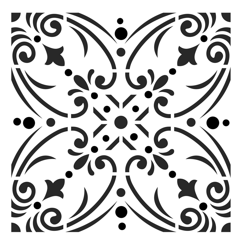 Moroccan Tile 1 stencil 12x12