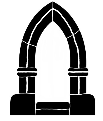 Arch 3 point LARGE 8x10 stencil