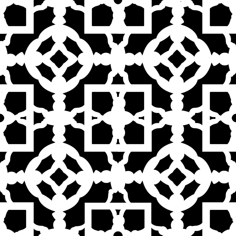 Modern Pattern 5 stencil 12x12