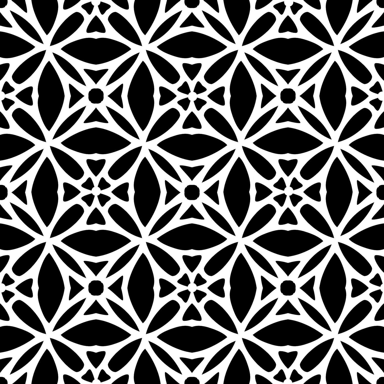 Modern Pattern 3 stencil 12x12