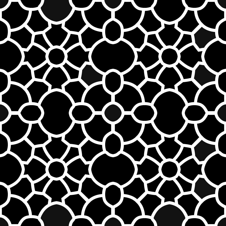 Modern Pattern 1 stencil 12x12