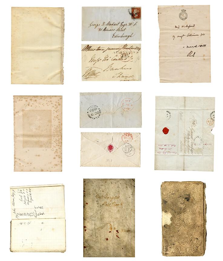 Vintage paper collage pak **PRINTED VERSION** 9 pages
