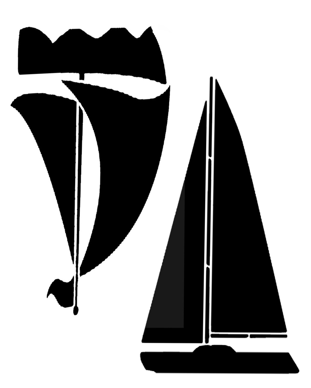 Boats 8x10 stencil