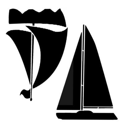 Boats XL 12x12 stencil