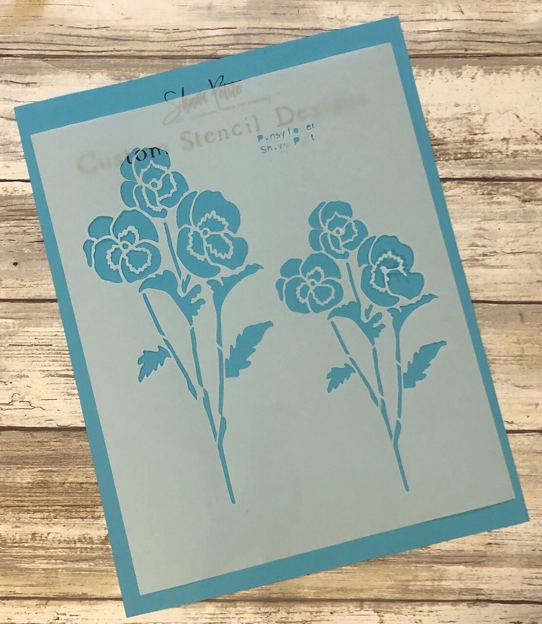 Pansy Flowers clearance stencil