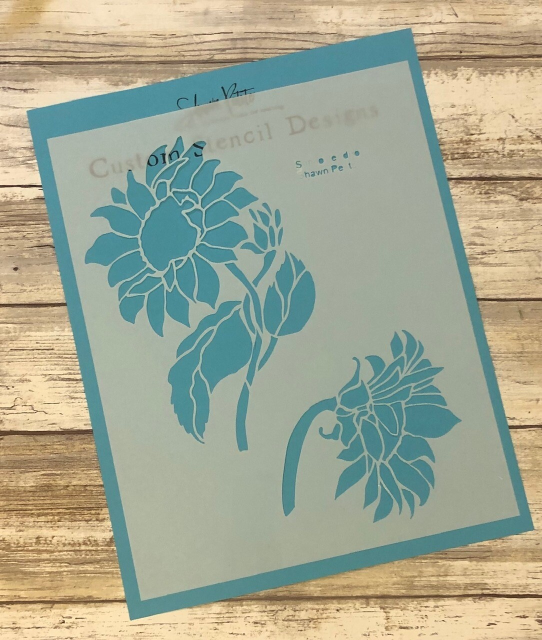 Sunflower Duo clearance stencil