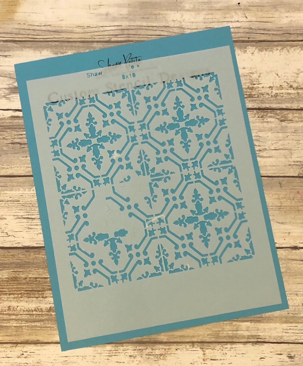 Moroccan Tiles 3 8x10 clearance stencil