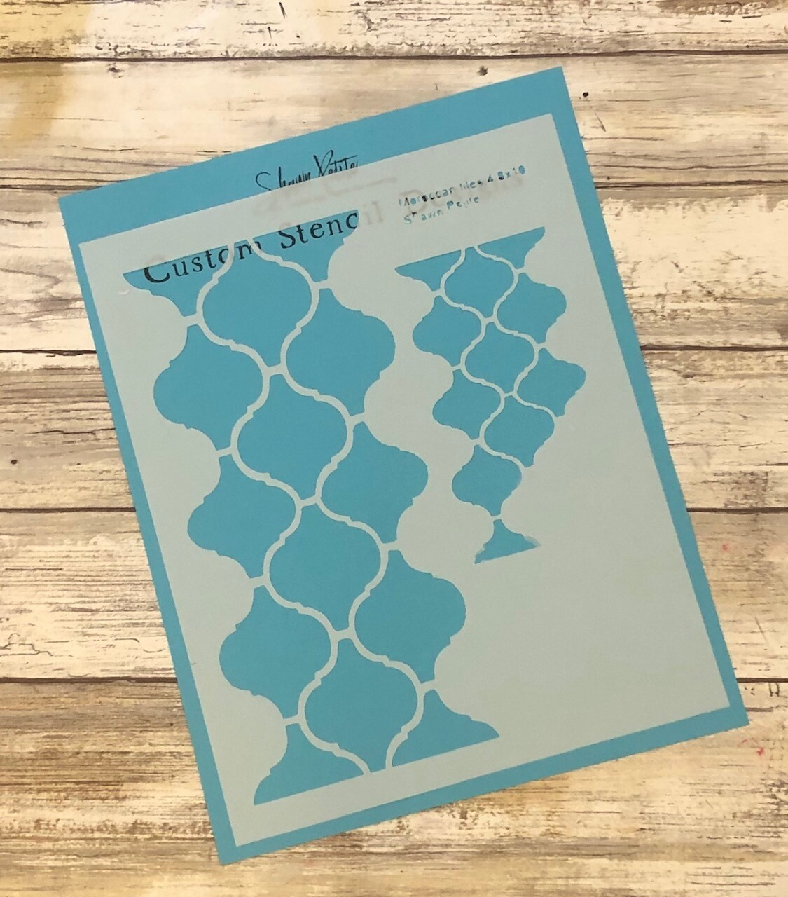 Moroccan Tiles 4 8x10 clearance stencil
