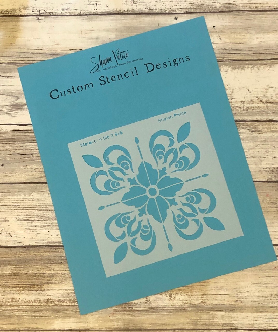 Moroccan Tiles 2 6x6 clearance stencil