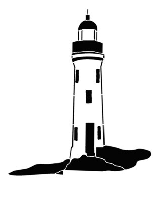 Lighthouse large 12x12 Stencil