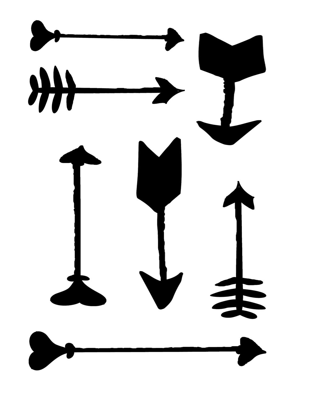 Arrows 8x10 stencil