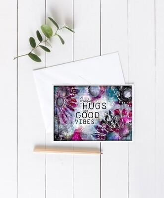 """""""Sending Hugs"""" 7x5 4 pack card"""