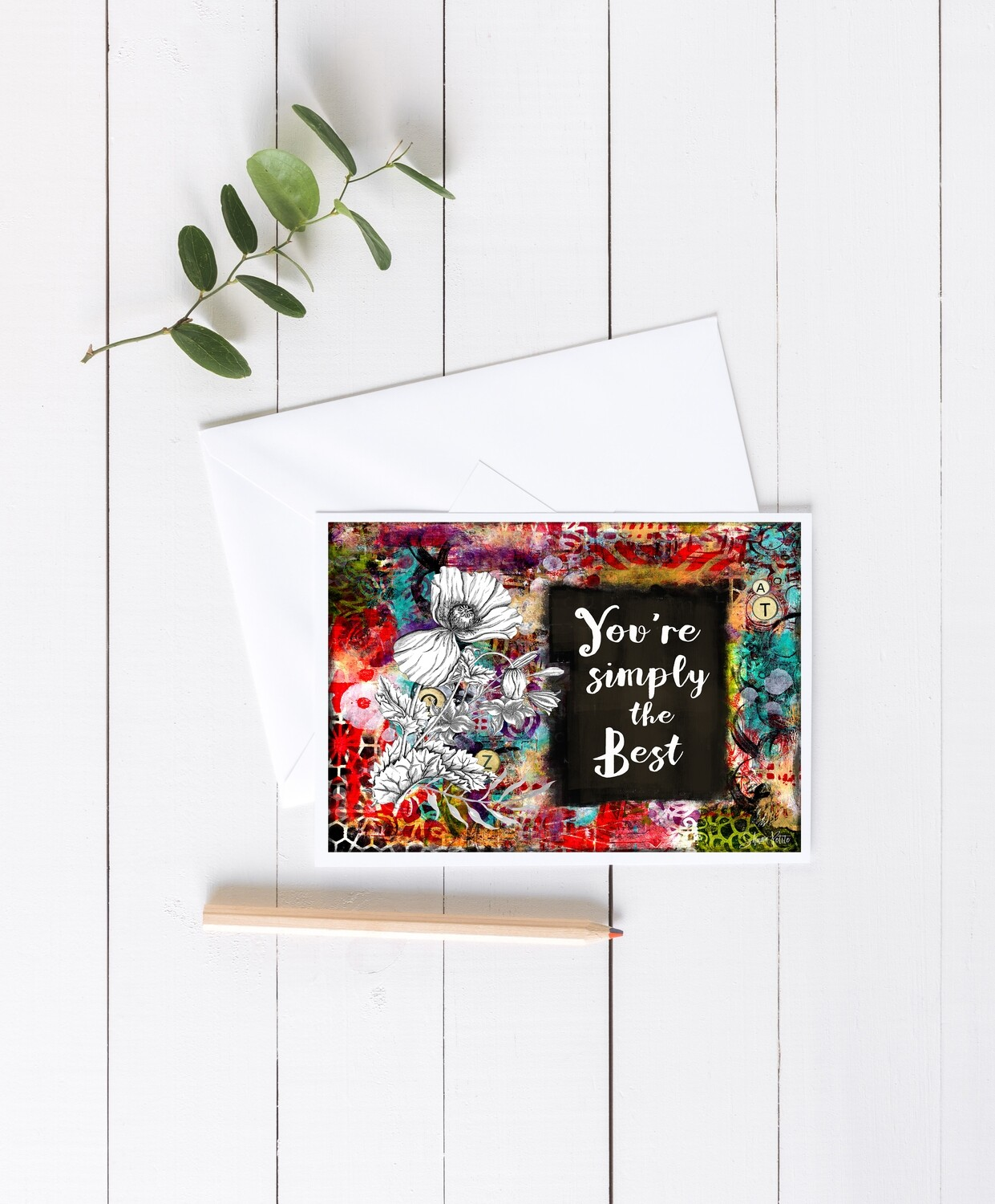 """""""You're simply the Best"""" 7x5 4 pack"""