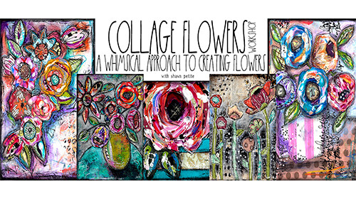 **CLAIMED** Free collage flowers workshop available WED. Aug. 12th at 12 PM ish EST. Only 1 available