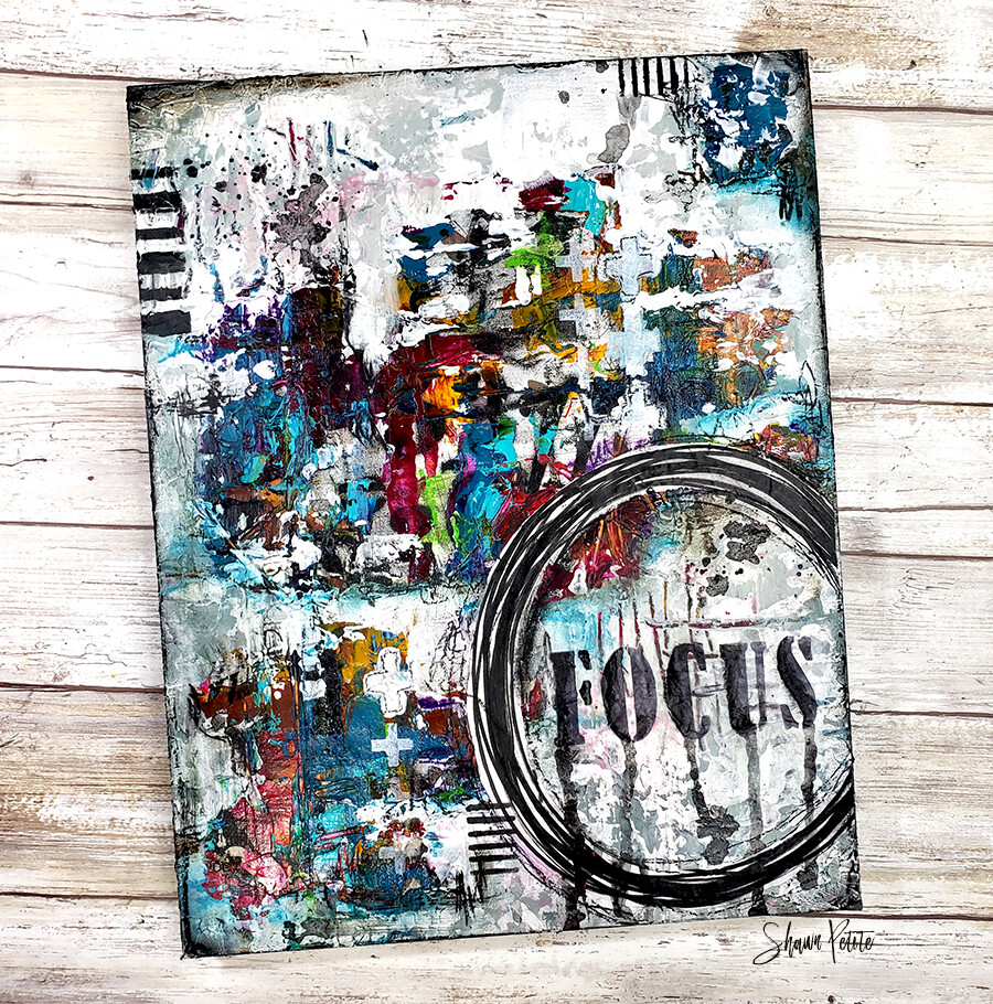 """Focus"" Print on Wood and Print to be Framed"