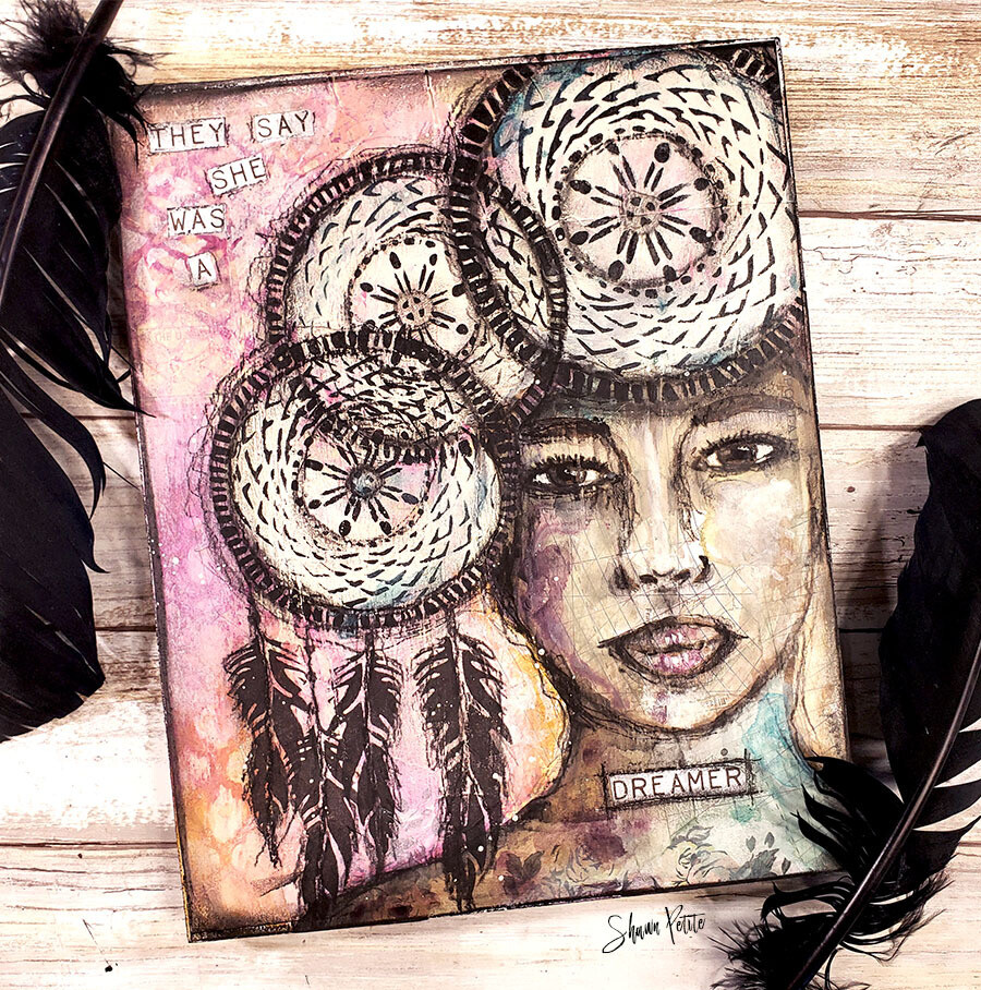 They say she was a dreamer mixed media 8x10 original clearance