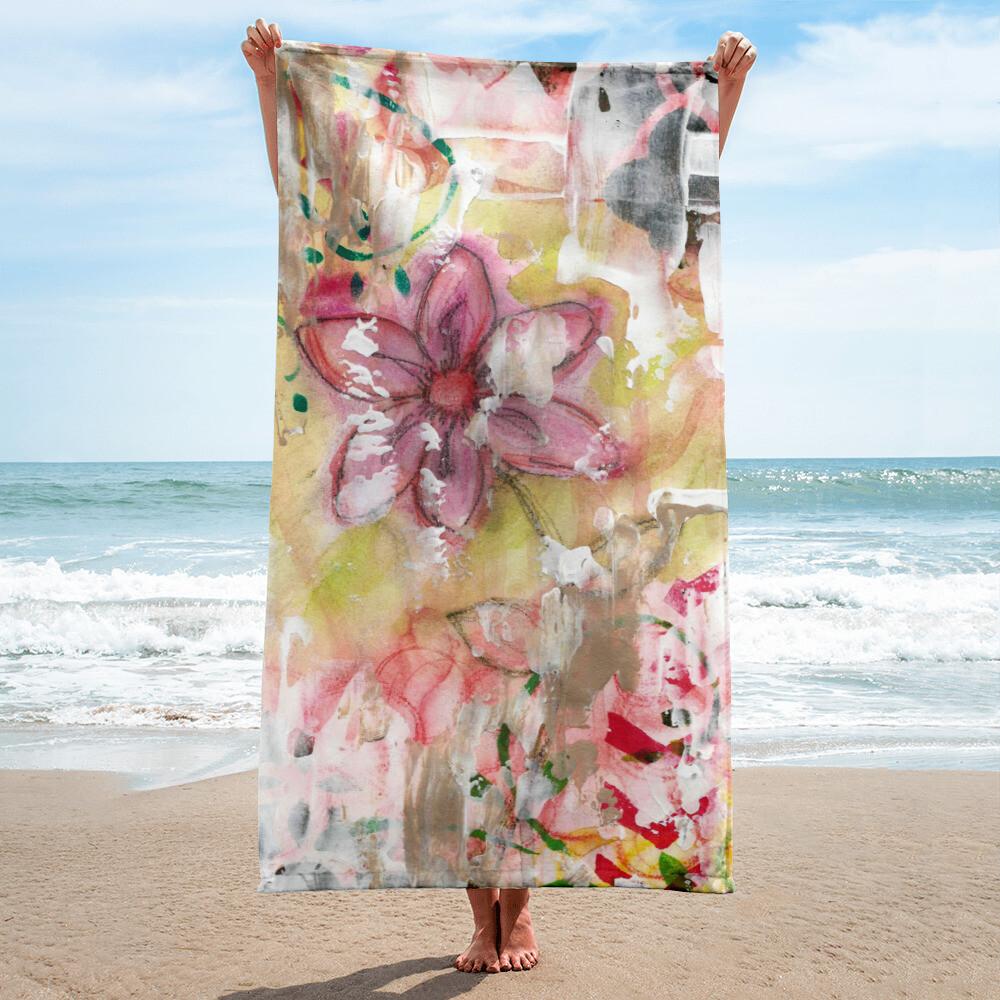 Pastel Flower Beach Towel