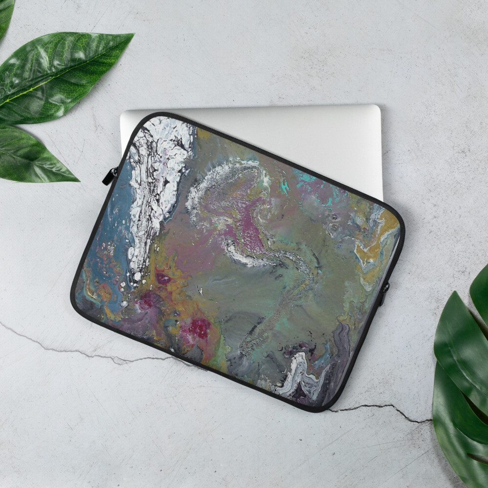 Paint Pour 2 Laptop Sleeve